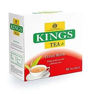 Kings Tea, Classic, (Kings Label), 400 bustine di tè, 5 scatole di 80, 2 tazze di tè