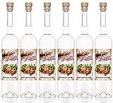 Nuss Kuss® 0,7 Liter, 6 Flaschen Haselnuss-Schnaps, Liebliche Spezialität von Kultbrand aus Nürnberg, Sensationelle Qualität, Direkt vom Hersteller, Die Königin unter den Prinzessinnen