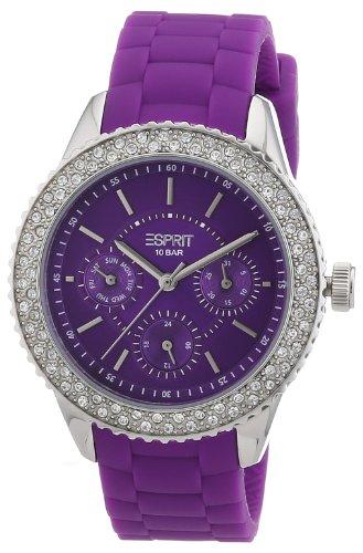 Esprit - ES106222005 - Montre Femme - Quartz Analogique - Bracelet Silicone Violet