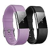 Hanlesi Fitbit Charge 2 Bracelets, TPU Silicone Souple Réglable Bande de Montres de...