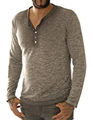 Key Largo Herren Langarmshirt Ls Curve Button Ls00185-1102