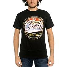 Johnny Cash - - Männer Original Rock-N-Roll T-Shirt in Schwarz