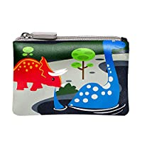 Bobble Art Kids Dinosaur Coin Purse/Childrens Dinosaur Wallet for Boys and Girls with Zip