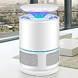 Silent Lámpara Antimosquitos, Repelente de Mosquitos electrónico, Trampa para Moscas de la lámpara del Asesino de Mosquitos, alimentada por USB, para el Patio Exterior en casa,White