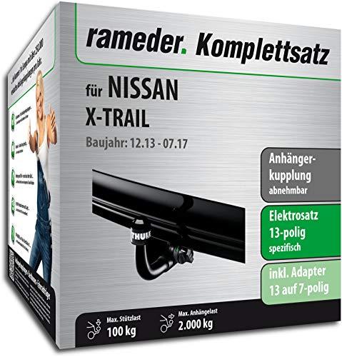 Rameder Komplettsatz, Anhängerkupplung abnehmbar + 13pol Elektrik für Nissan X-Trail (148682-12857-2)