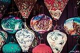 Wunschmotiv: Colorful lanterns spread light on the old