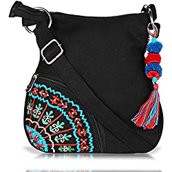 Sling Bag Pick Pocket Women's Sling Bag (Black,Slblkbside55)