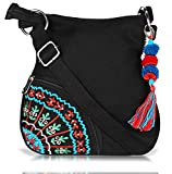 #7: Sling Bag Pick Pocket Women's Sling Bag (Black,Slblkbside55)