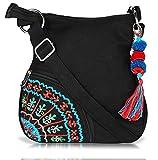 #10: Sling Bag Pick Pocket Women's Sling Bag (Black,Slblkbside55)