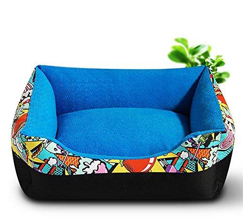 XXQ Easy-Clean Waschbare Hundebett, Premium Orthopädische Speicher wasserdichte Hundebetten, Blue -