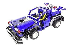 Tekno Toys 85000013-Active Bricks RC 2in1Cabrio y Sedán, Azul