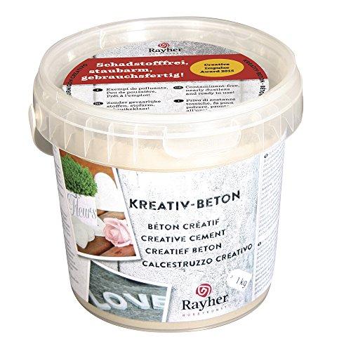 rayher-creative-cemento-cubo-1-kg-color-plateado