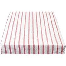 Catherine Lansfield - Juego de funda nórdica y funda de almohada de franela 100% algodón, diseño de cuadros blancos y rojos, mezcla de algodón, rojo y blanco, King Size (cama doble)