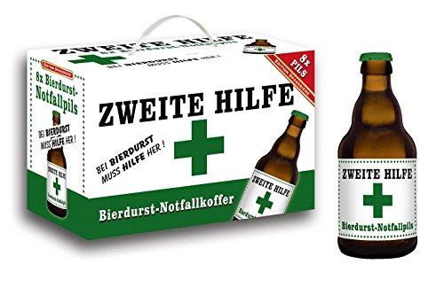Zweite Hilfe Bierdurst Notfall Koffer im 8er Geschenkkarton (8 x 0.33 l) (1 Am Zweiten)