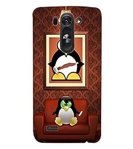ColourCraft Funny Penguin Design Back Case Cover for LG G3 S
