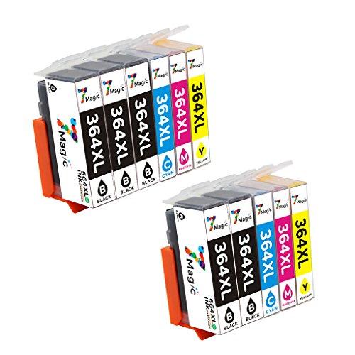 7Magic Kompatible Druckerpatronen Ersatz für HP 364 XL Multipack Hoher Reichweite Tintenpatrone...