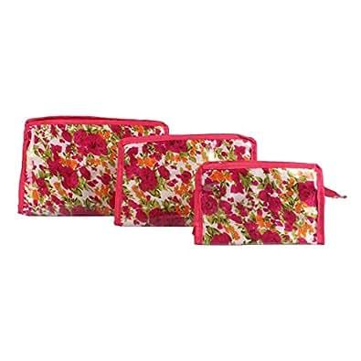 LadyBugBag Combo Set of 3 Multipurpose Cosmetic Organizer Utility Kits - LBB10233