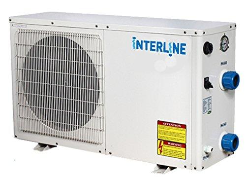 Interline 59695245 Wärmepumpe Eco, 4,5 KW, weiß für 30m³ Pools