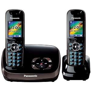 Panasonic KX-TG8522FRB Duo Téléphone sans fil DECT Mains-libres Avec Répondeur