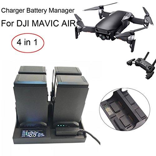 LCLrute Hohe Qualität Intelligente Ladegerät-Batterie-Manager-Batterien, die für DJI Mavic Luft-Brummen-Teile aufladen (Schwarz)
