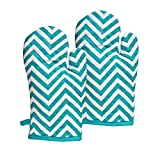 #4: Yellow Weaves 100% Cotton Heat Proof Microwave Oven Gloves (Multicolour, WI2222) - Pack of 2