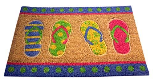 Summer Beach Flipflop Fußmatte aus Kokosfaser, 84 cm