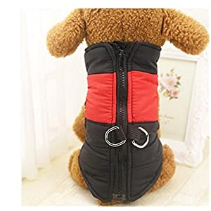 Nibesser Animal Manteau d'hiver Rembourre Veste Sweat Sans Manche Gilet Ski Impermeable pour Petit Chien