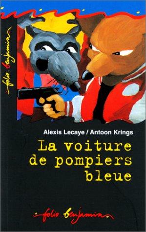 La voiture de pompiers bleue par Alexis Lecaye