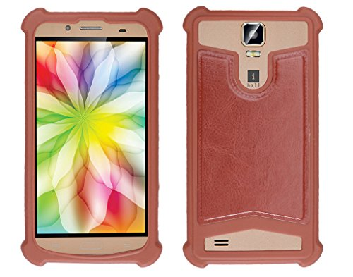 Shopme Shock proof,Silicon,Premium PU Leather Back cover for iBall Andi 5.5H Weber (Brown Color) (Special Anti Shock Bumpers on all four sides , 360 degress Protection, Access to all Ports)  available at amazon for Rs.199