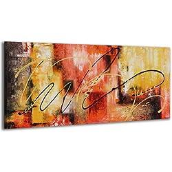 100% LABOR A MANO + certificado / 115x50 cm / Modelo abstracto / El cuadro dibujado con pinturas acrílicas / cuadros sobre el lienzo con bastidor de madera / cuadro dibujado a mano / montaje cómodo sobre la pared / Arte contemporáneo