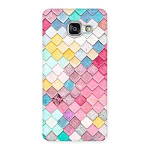 Delighted Rock Pattern Multicolor Back Case Cover for Galaxy A3 2016