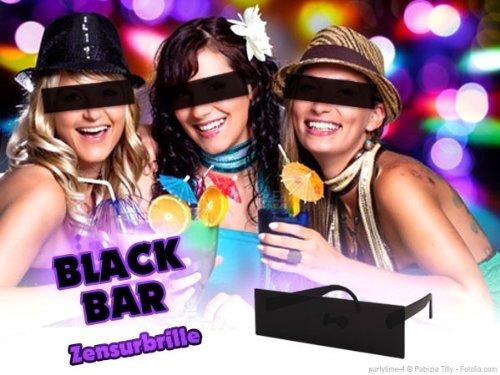 Lunettes Humoristique Censure Noir (Alsino F-034) pour Adultes accéssoire pour compléter Votre déguisement Homme Femme ou pour Amuser Vos Amis Lors de soirée déguisée Festival Beach Party Original