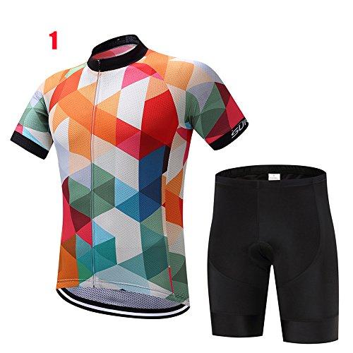 Logas 2017 Outdoor Sports Herren Kurzarm Radtrikot Set Fahrrad Jersey Kleidung Anzug 3D Padded atmungsaktiv schnell trocknend