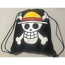 mochila con Jolly Roger de la tripulación Sombreros de Paja. Mochila Saco One  Piece 82983cb7952