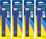 Pelikan Bleistift, Härtegrad 2B, Blister mit 3 Stück (4er Pack Härtegrad 2B)