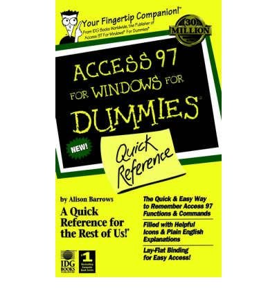 [(Access 97 for Windows for Dummies Quick Reference)] [by: Dummies Technology Press] par Dummies Technology Press