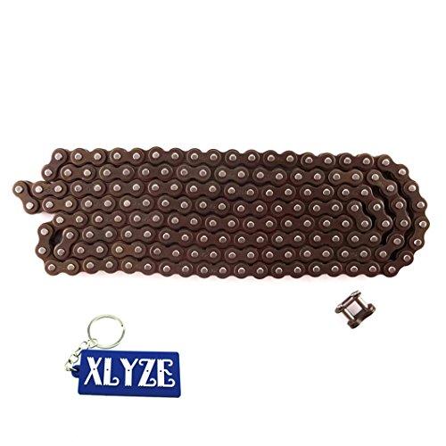 xlyze 25H 158links mit Spare Kette Master Link für 47cc 49cc Mini Dirt Kids ATV Quad Pocket Bike Moto