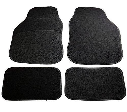 Safe travel 27600 tappetini universali per auto, set, auto con guida a sinistra, tacco tappeto, bordo nero