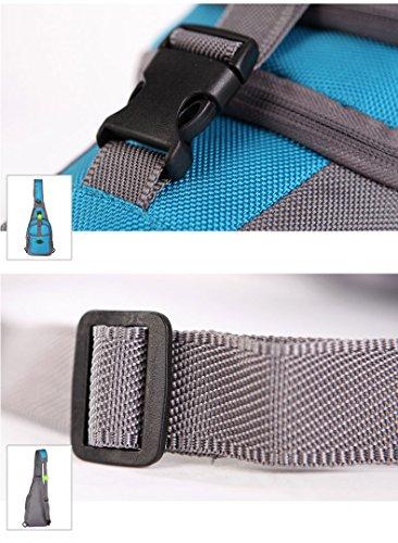 Outdoor peak Unisex Nylon wasserabweisend Fahrradrucksäcke Tagetasche Messenger Bag Reisetasche Laptop-Tasche Schultasche Brusttasche Arbeitestasche Rot 2