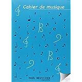 Cahier de musique 12 portées Papier Ivoire 48 pages