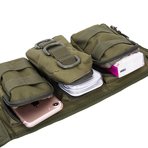 Herren Militär Gürteltasche Reisen Sport Tactical Hüfttasche Outdoor Bauchtasche Grün