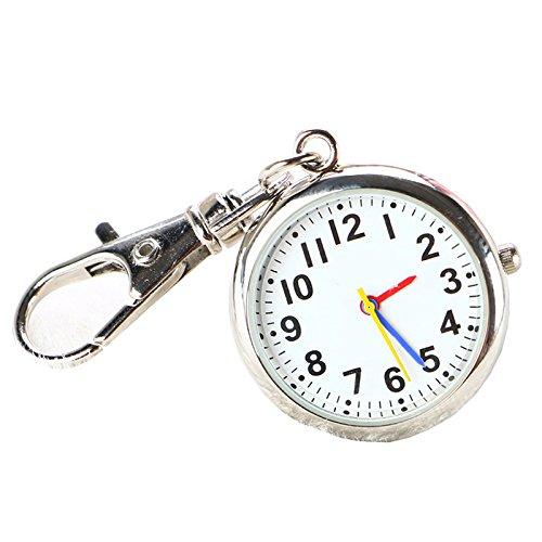 CHENFUI Unisex Neuheit Gürtel Schlüsselanhänger Uhr Big Dial Krankenschwesternuhr Arzt Taschenuhr Medizinuhr, bunt, 6X3X1.2cm