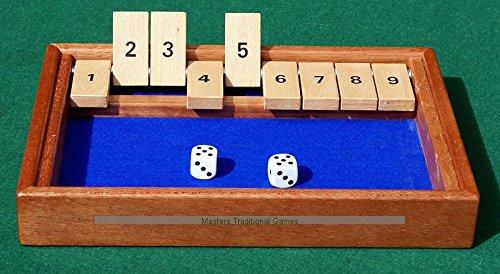 Hand-made Shut the Box - Mahogany frame with Ash tabs