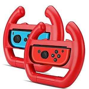TNP Nintendo Schalter Rad für joy-con Controller (Set von 2)–Racing Lenkrad Controller Zubehör Griff Kit Befestigung–Nintendo Schalter