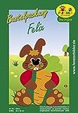 Fischer Fensterbild Hase FELIX / Bastelpackung / 30x42 cm / zum Selbermachen / Basteln zu Ostern mit Papier und Pappe