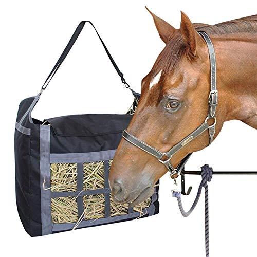 poetryer Hay Bag, Oxford Hay Einkaufstasche Bag Pferd Slow Feeding Bag mit Verstellbaren Handriemen, Große Kapazitäts-dauerhafte Stoff-Pferdegarten-Bauernhof-Heu-Taschen-Tasche