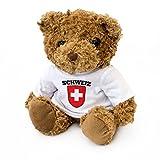 NEU - Schweiz Flagge Teddy Bär - Swiss Fan Geschenk Schweizerisch