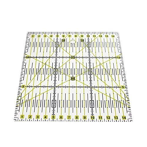 Cratone Patchwork-Lineal transparent Acryl Patchwork Lineal Quilting Quadrat Schablone für Quilten Nähen Basteln