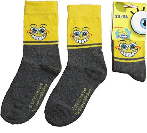 Spongebob Schwammkopf Socken in Gelb Gr. 23-26