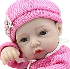 DÉCOR Soft Vinyl Silicone Like Alive Baby Doll with Red Rose Clothes (30cm)